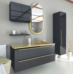 From ultra sleek wall hung aesthetic bathroom furniture to sound systems, to stand lone mirrors to vanities, there has never been such a wide rage of bathroom. Bathroom Design Luxury, Bathroom Furniture, Bathroom, Bathroom Decor, Round Mirror Bathroom, Vanity Design, Bathroom Mirror, Home Decor, Bathroom Cabinets