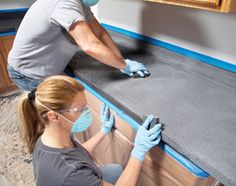 Ideas for the Kitchen: Renew Kitchen Countertops - Step by Step | The Family Handyman. Do I dare try this?