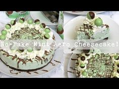 A Creamy, Sweet, and Delicious No-Bake Mint Aero Cheesecake. Chocolate Digestive base, Mint Aero Cheesecake filling, and even more Mint! Brownie Recipes, Cheesecake Recipes, Aero Cheesecake, Easy Slice, Muffins, Janes Patisserie, Keep Recipe, Easy Cheese, Cheese Cakes