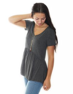 You'll never believe how comfortable and cute this top is! This is one of our favorite shirts to layer for fall! $28