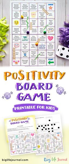 Positivity Board Game - Playing games is a great way to brush up on your growth mindset skills. This Positivity Board Game - Social Skills Activities, Counseling Activities, Therapy Activities, Learning Activities, Growth Mindset For Kids, Growth Mindset Activities, Mental Health Activities, Self Esteem Activities, Printable Board Games
