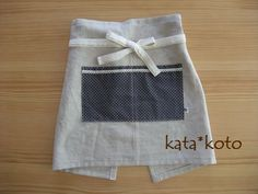 簡単♪カフェエプロンの作り方|編み物|編み物・手芸・ソーイング|ハンドメイドカテゴリ|アトリエ