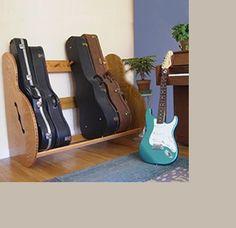 Fantastic rack for guitar cases.