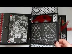 Wedding Mini Album in Black,White and Red - YouTube