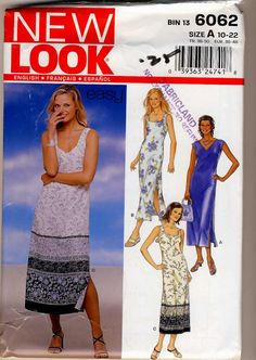 New Look 6062 Misses StraightSummer Dress by Noahslady4Patterns, $4.25