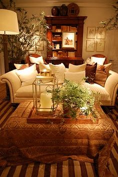 Cozy and warm. Love this space.