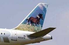 Frontier Airlines Airbus A320-214 N203FR 'Sally the Mustang'