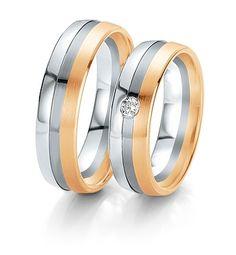 Breuning Trouwringen | black&white gouden ringen | 6mm briljant 0.06ct verkrijgbaar in 8,14 en 18 karaat | 48061150 / 48061160