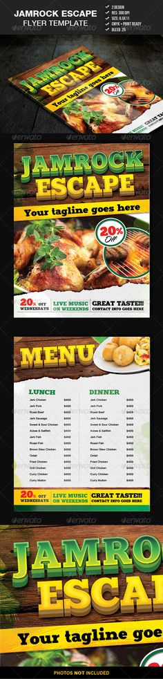 This fully layered PSD template has of 2 files, you can move around objects or change background colours easily. Perfect for restaurant menus or flyer promo. $6.00