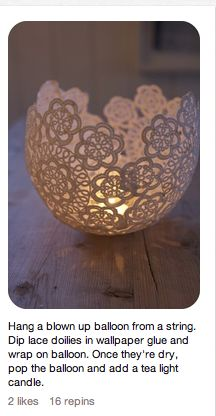 DIY candle pretty lace holder