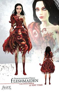 Fleshmaiden - American McGees Alice Wiki - Madness Returns!