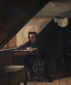 Augustus Egg (English, 1816-1863), Self Portrait as a Distressed Poet, 1858.