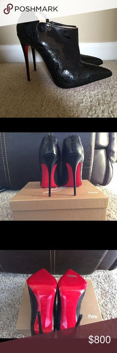 Christian Louboutin Black 39 120mm Christian Louboutin Shoes Ankle Boots  Booties