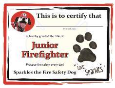 Jr Firefighter Certificate