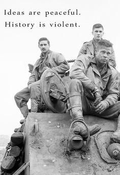 Fury - Ideals are peaceful. History is violent Brad Pitt Fury, Fury 2014, Por Tras Das Cameras, Dramas, War Film, Movie Wallpapers, Movie Photo, Cultura Pop, Film Stills