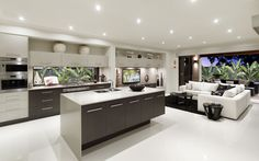 Interior Design Gallery | Home Decorating Photos - LookBook Like the way the lounge flows from the kitchen