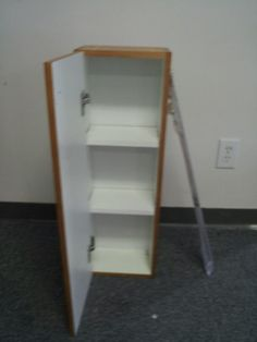 Small Cabinet with Towel Bar