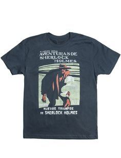 Aventuras de Sherlock Holmes http://www.outofprintclothing.com/collections/mens-tees/products/aventuras-de-sherlock-holmes-mens-tee