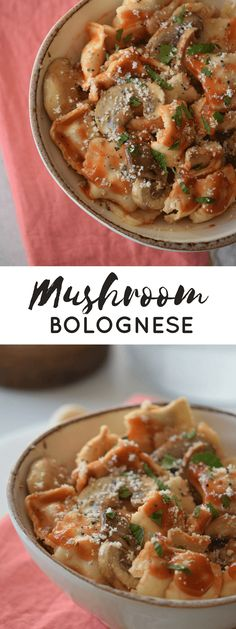 This hearty, homemade Mushroom Bolognese is easy to make and pairs well with ravioli, gnocchi, or any other pasta that your heart desires.
