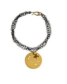 The Gemini Charm Bracelet - Gold Plated by JewelMint.com, $45.00