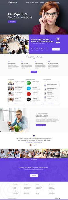 Findlancer - Freelancer Directory PSD Template by peterdraw | ThemeForest