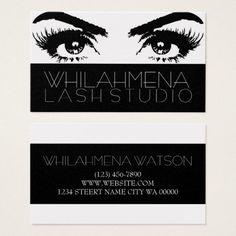 Gold Eyelash Extensions Studio Business Card
