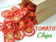 Tomato Chips  ~Frisky   I love these things so move over potato chips cause potato chips never tasted anywhere near this good, PLUS these are healthy  http://www.southernplate.com/2014/04/tomato-chips.html