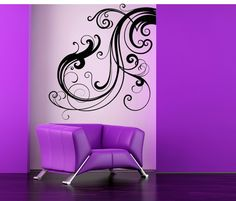 Swirls, Flourish, Fancy, Art, Old World, Princess, Baroque - Decal, Sticker, Vinyl, Wall, Home, Office, Bedroom Decor