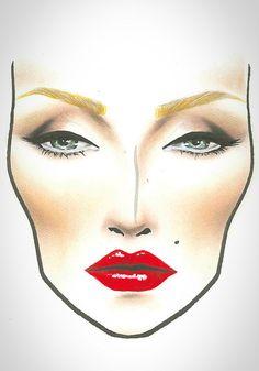 MAC Halloween Face Chart Marylin by Frag die Gurus, via Flickr