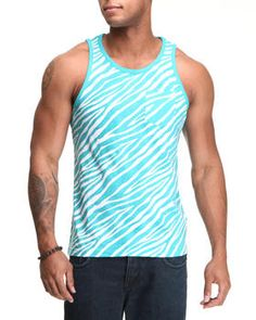 Zebra Print Tank Top. Get it at DrJays.com