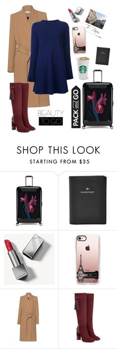 """""""Pack and GO"""" by violaxfashion ❤ liked on Polyvore featuring Ted Baker, FOSSIL, Burberry, Casetify, IRO, Aquatalia by Marvin K., Proenza Schouler and Packandgo"""