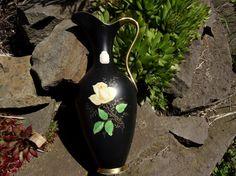 Porzellan Krug Vase Waldershof Bavaria Gold Blume
