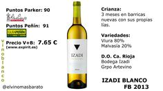 Comprar Izadi Blanco Fermentado en Barrica 2013