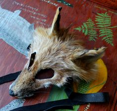 Red fox taxidermy mask by Lupa. At http://thegreenwolf.etsy.com