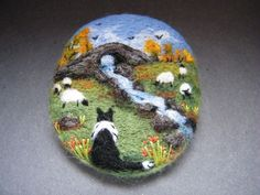 Original needle felted art work by Tracey Dunn. A unique needle felted brooch made at my smallholding in the rolling hills of Mid Wales. My work is inspired by our flock of rare breed Soay sheep, our chickens, dogs, cats and the beautiful countryside and wildlife that surrounds us. | eBay!