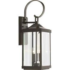 Progress Lighting Gibbes Street 2 Light Wide Outdoor Wall Sconce with Clear Beveled Glass Panels - Antique Bronze Gas Lanterns, Outdoor Hanging Lanterns, Outdoor Wall Lantern, Outdoor Wall Sconce, Outdoor Wall Lighting, Exterior Lighting, Outdoor Walls, Lighting Ideas, Outdoor Dining
