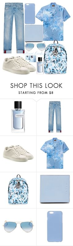 """""""H A W A I I"""" by karilooks ❤ liked on Polyvore featuring Yves Saint Laurent, Gucci, Fendi, Topman, Marni, Ray-Ban, men's fashion and menswear"""
