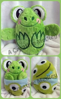 Peekaboo Frog In the Hoop Stuffed Softie  by ACreativeMedley