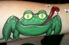 """Frog face painting idea from """"The Art of Love by Brandi Menfi"""""""