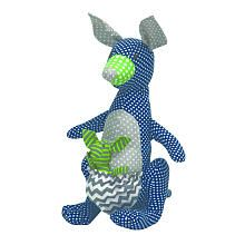 Trend Lab Perfectly Preppy Kangaroo Stuffed Toy (see other views for actual color. NOT neon)