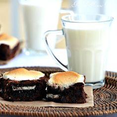 Toasted Marshmallow OREO Brownies