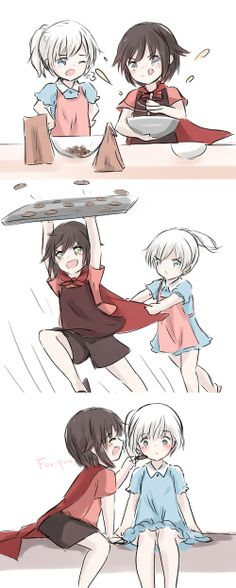 Making Cookies. White Rose RWBY