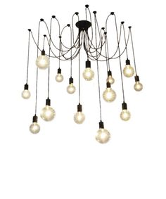Customizable 14 Pendant Light Swag Chandelier Any Colors by HangoutLighting
