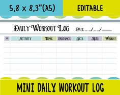 daily fitness log