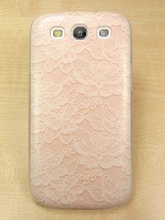 Samsung galaxy s3 case Lace Flower Pattern Hard samsung galaxy s3 Cover. $11.99, via Etsy.