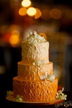Orange Ombré Cake | PHOTO SOURCE • DAVID WITTIG PHOTOGRAPHY