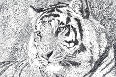Tiger Pointillism by DancesWithStars70775.deviantart.com on @deviantART