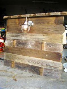 Southern Fried Living: Salvaged Wood Headboards: Twin Boys Room house-love