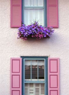 How to Hang Window Boxes on Vinyl Siding Hanging Window Boxes, Whatsapp Wallpaper, House Paint Color Combination, Exterior Cladding, Exterior Shutters, Glass Front Door, Exterior Paint Colors, Pink Houses, Mid Century Decor