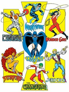 1982 Teen titans style guide
